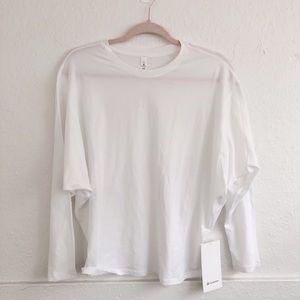 Lululemon White Loungeful Drape Long Sleeve Top
